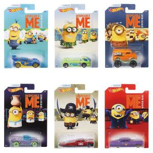 Hot Wheels Despicable Me Minion Made Complete Collection Full Set of 6 - DWF12